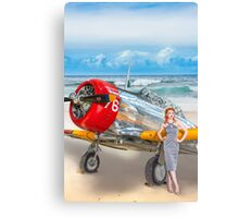 Miss Madison Louise - beach warbird Canvas Print