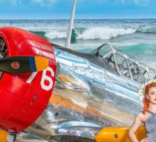 Miss Madison Louise - beach warbird Sticker