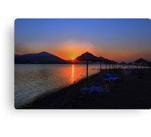 Elounda Beach at dawn Canvas Print