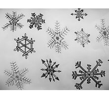 Black and white snowflakes  Photographic Print