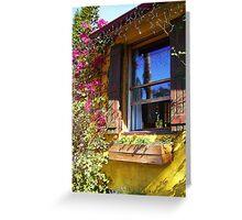 TAVERN WINDOW ON A SUNNY DAY Greeting Card