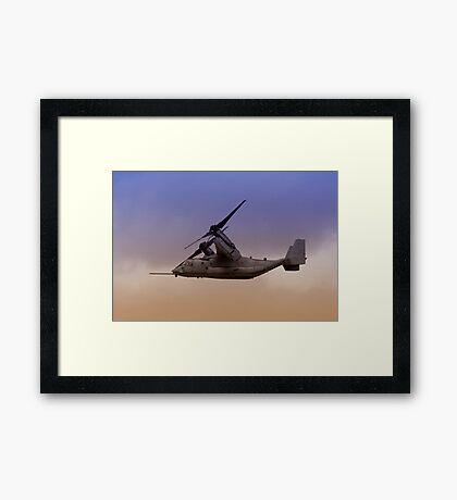 Osprey In Flight Series 3 of 4. Framed Print