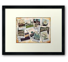 Los Angeles Polariod Collage Framed Print