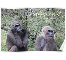 Gorillas - Hear no evil.. Poster