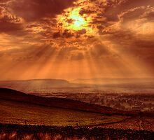 Sunset at the Nick of Pendle by David John Atkinson