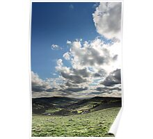 Clearing Sky, Hayfield, Derbyshire UK Poster