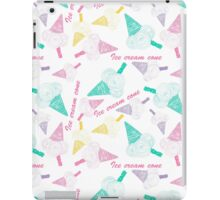 Colored seamless pattern with colorful ice cream cone iPad Case/Skin