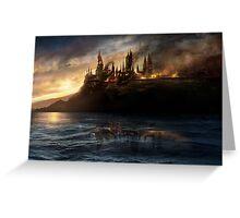 Hogwarts on Fire Greeting Card