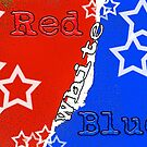 Red White & Blue with Stars by Buckwhite