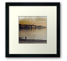 The winter of a beach Framed Print