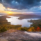 Blue Ridge Mountains Sunset - Jocassee Gold by Dave Allen