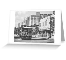Vehicles: Trolley Greeting Card