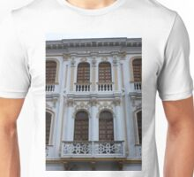 Ornate Balconies on a Building Unisex T-Shirt