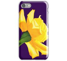 Yellow Rose with Purple iPhone Case iPhone Case/Skin