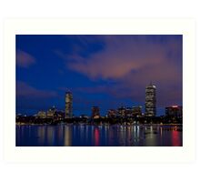 Dusk's pink winter skyline Art Print