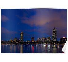 Dusk's pink winter skyline Poster