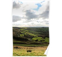 Edge of the National Park, Coombes Edge, Derbyshire Poster