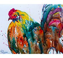 Crazy Rooster Photographic Print