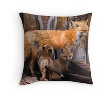 Nursing The Pups Throw Pillow