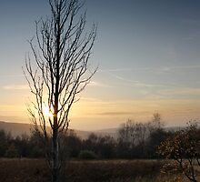 Winter Sunset, Shire Hill, Glossop by Mark Smitham