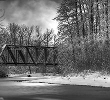Railroad Bridge over the Wallace River by Jim Stiles