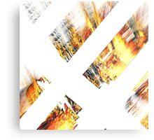 Burning Logs Metal Print