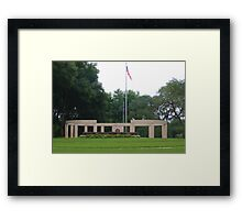 Colonnade at the Florida National Cemetery in Bushnell. Framed Print