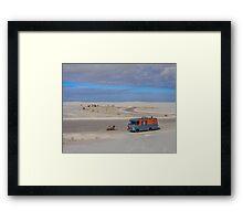 Vehicles: RV Life White Sands Framed Print