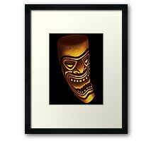 The laughing Tiki Framed Print