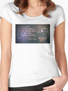 Dalai Lama Quote with Cosmos Women's Fitted Scoop T-Shirt