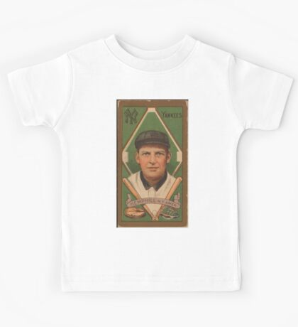 Benjamin K Edwards Collection Charles Hemphill New York Yankees baseball card portrait Kids Tee