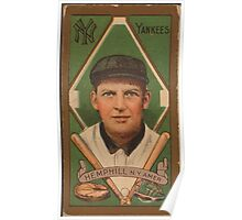 Benjamin K Edwards Collection Charles Hemphill New York Yankees baseball card portrait Poster