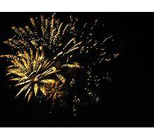 Fireworks at Disneyland. Photographic Print