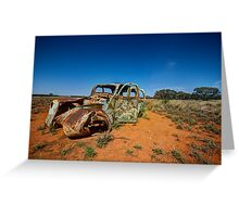 Outback Wreck - Arumpo, NSW Greeting Card