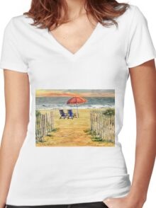 The Day Awaits Women's Fitted V-Neck T-Shirt