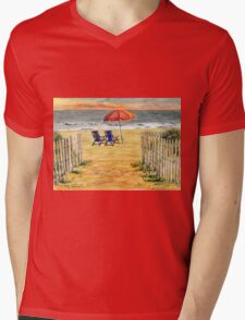 The Day Awaits Mens V-Neck T-Shirt