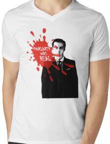 Moriarty Was Real - Jim - Sherlock BBC Mens V-Neck T-Shirt