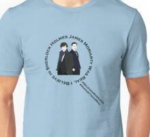 Sherlock & Moriarty Under the Microscope Unisex T-Shirt
