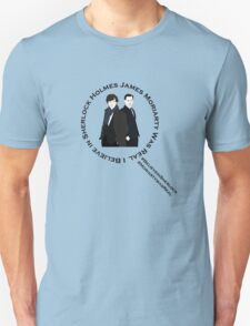 Sherlock & Moriarty Under the Microscope T-Shirt