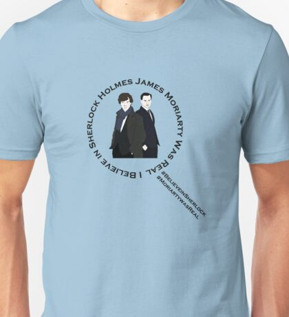 Sherlock & Moriarty Under the Microscope Unisex T-Shirt