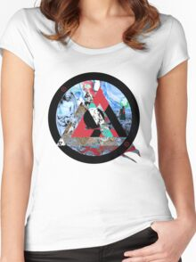Somewhere not here 2 Women's Fitted Scoop T-Shirt