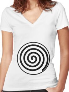 poliwag poliwhirl poliwrath spiral Women's Fitted V-Neck T-Shirt