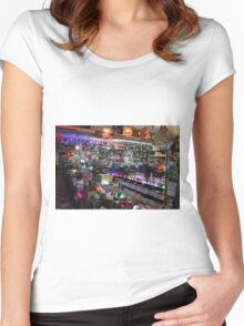 Cute Glowing Lights Store Women's Fitted Scoop T-Shirt