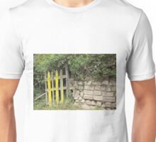 Overgrown Yellow Wood Gate Unisex T-Shirt