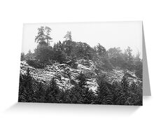 Cliffs in January Greeting Card