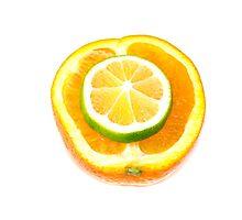 orange and lime Photographic Print