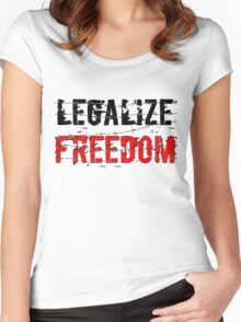 Legalize Freedom 3 Women's Fitted Scoop T-Shirt