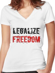 Legalize Freedom 3 Women's Fitted V-Neck T-Shirt
