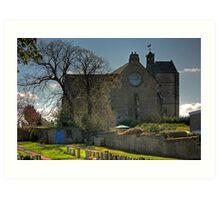 The Parish Church at Kirkliston Art Print