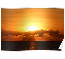 Sun kissed ocean Poster
